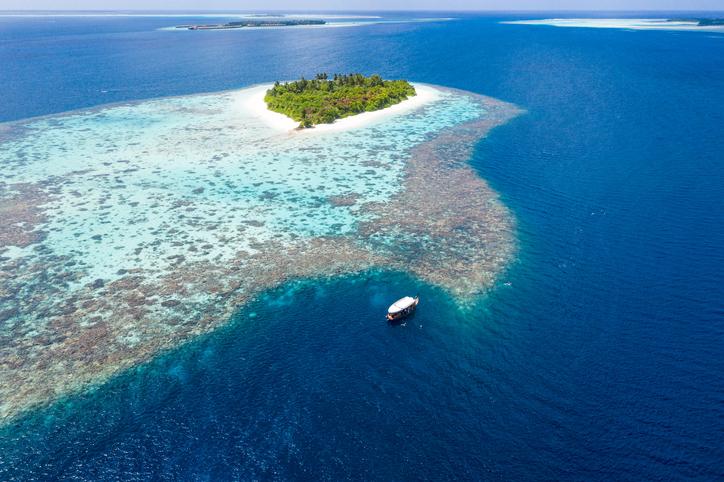 maldive barriera corallina