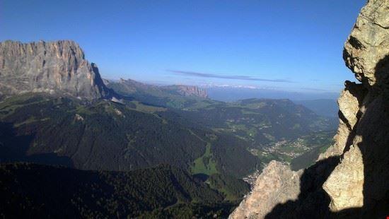 Selva vista dalla Gran Cir (sopra Dantercepies)