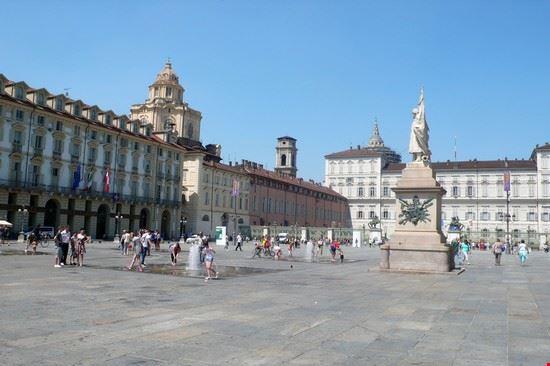 Piazza Castello e palazzo Reale a Torino