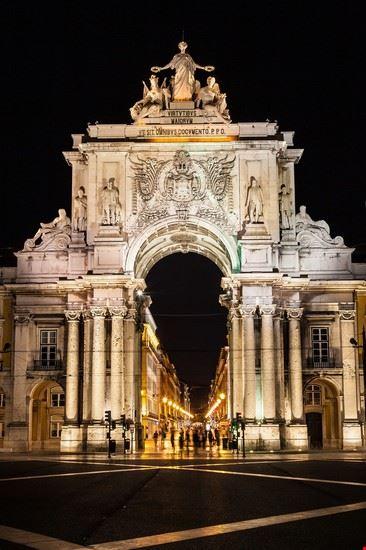 Lisbona Arco Rua Augusta