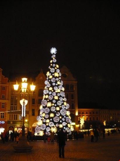 Centro storico di Wroclaw d'inverno