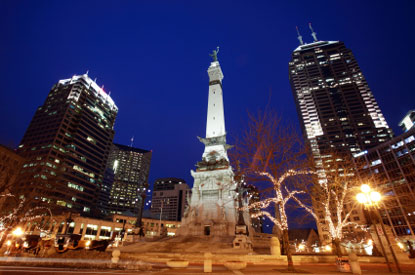 Photo indianapolis indianapolis di notte in Indianapolis - Pictures and Images of Indianapolis - 415x275  - Author: Editorial Staff, photo 1 of 20