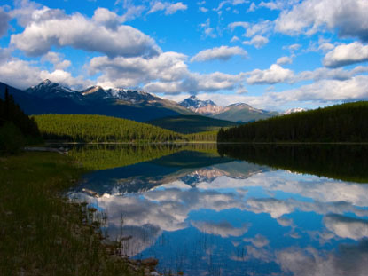 Photo jasper riflessi d acqua in Jasper - Pictures and Images of Jasper