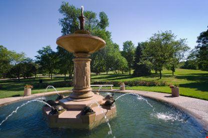 Fontana nel parco botanico di Minneapolis