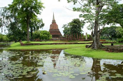 Foto giardino zen a sukhothai 415x275 autore - Foto giardino zen ...