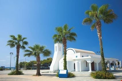 White Church and Palms