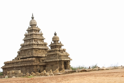 Photo mamallapuram famous shore temple in Mamallapuram - Pictures and Images of Mamallapuram