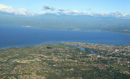 Aerial view of bay