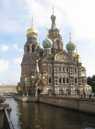 Photo Cathedral of Jesus Christ Saviour on blood in St Petersburg - Pictures and Images of St Petersburg - 315x425  - Author: Editorial Staff, photo 2 of 14