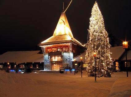 Santa's office in the Arctic