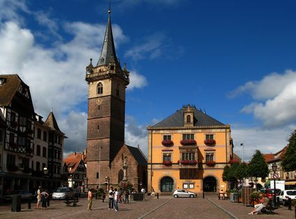 Photo Town center in Obernai - Pictures and Images of Obernai