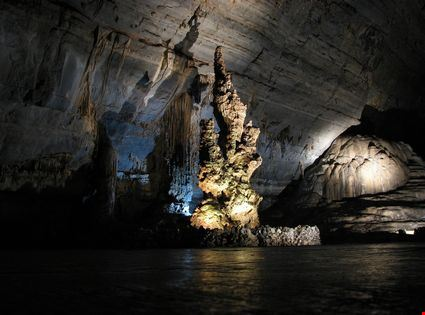 Cave with stalagmite