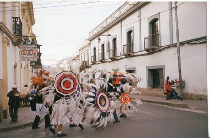 Bolivian festival with women