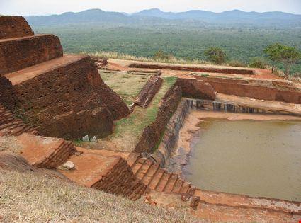 Ruins in Sigiriya rock