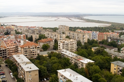 Photo burgas aerial view of the city in Burgas - Pictures and Images of Burgas