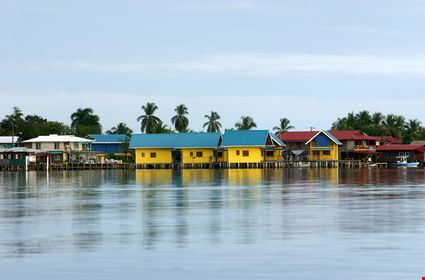 Yellow houses in the caribbean