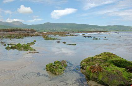 Scenic peaceful irish coast and beach