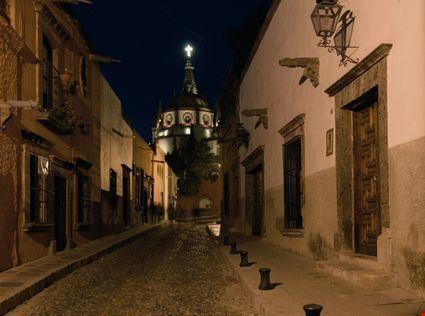 Evening on a cobblestone street
