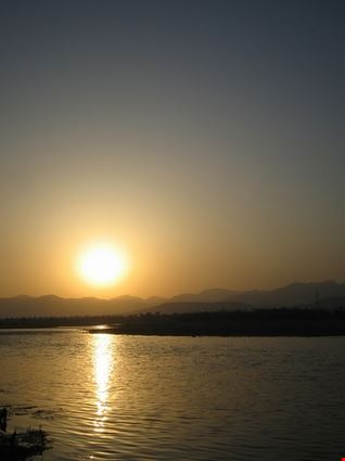 Sunrise on the holy river Ganges