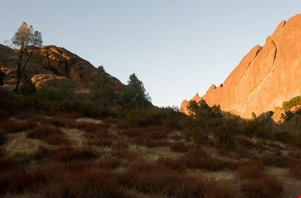 Pinnacles National Monument is a protected mountainous area located east
