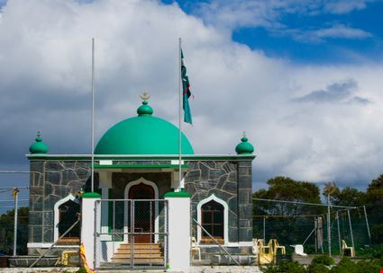 Green-domed mosque