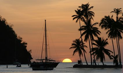 Photo marigot sunset in Marigot - Pictures and Images of Marigot