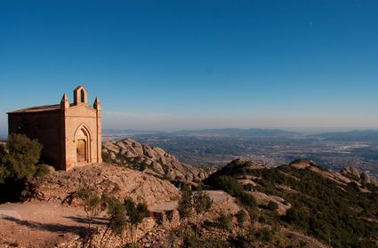 Photo montserrat lonely small church in Montserrat - Pictures and Images of Montserrat