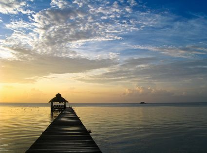 Photo Caribbean Beach Sunrise in Ambergris Caye - Pictures and Images of Ambergris Caye