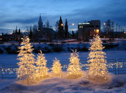 Photo fairbanks christmas lights in Fairbanks - Pictures and Images of Fairbanks