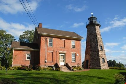 Historic stone lighthouse