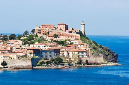 View of Portoferraio old city