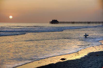 Sunset at the Pier in Oceanside beach