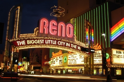 Photo Downtown at Night in Reno - Pictures and Images of Reno