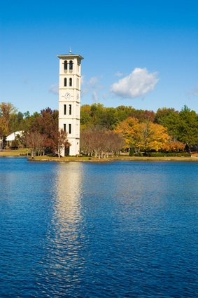Photo Clock Tower at Furman Univeristy in Greenville - Pictures and Images of Greenville - 283x425  - Author: Editorial Staff, photo 1 of 2