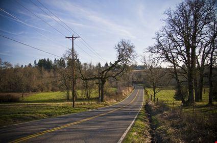 A back country road outside of Beaverton