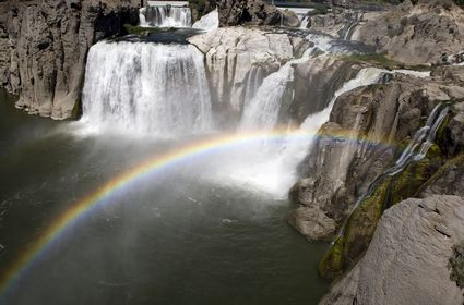 Photo shoshone rainbow over shoshone falls in Shoshone - Pictures and Images of Shoshone