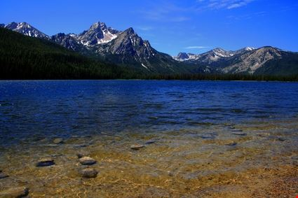 Stanley Lake with Sawtooths