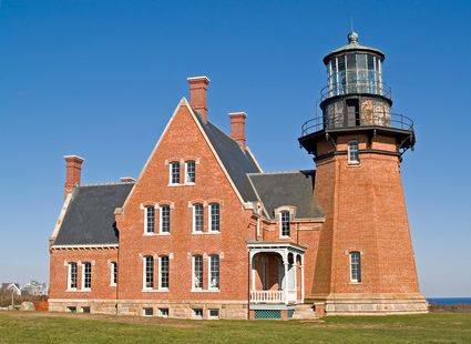 Photo block island historic southeast light in Block Island - Pictures and Images of Block Island