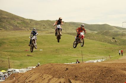 Motocross racers compete at the Thunder Valley Motocross Park