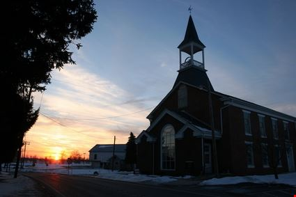 Church at Sunset in York County