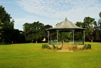 A classic Victorian bandstand in Abington Park