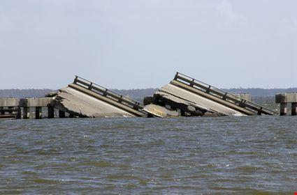 A bridge that was sunk in Biloxi