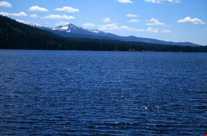 View across Payette lake near north shore