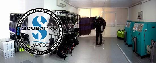 Foto blu infinito diving center a san teodoro 550x222 - Dive center blu ...