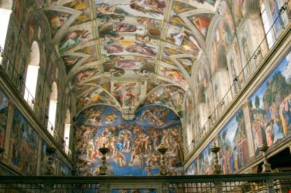 15619 roma interno della cappella sistina