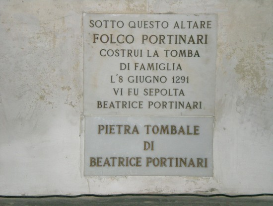 Photo pietra tombale di Beatrice in Florence - Pictures and Images of Florence