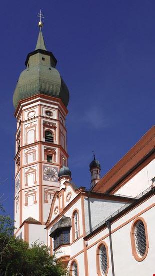 17495 monaco il campanile del monastero di andechs
