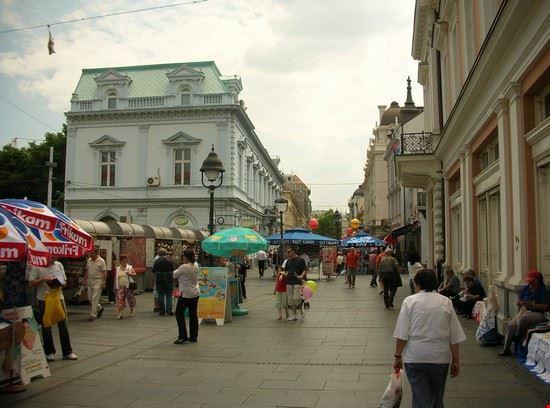 Il centro di Belgrado