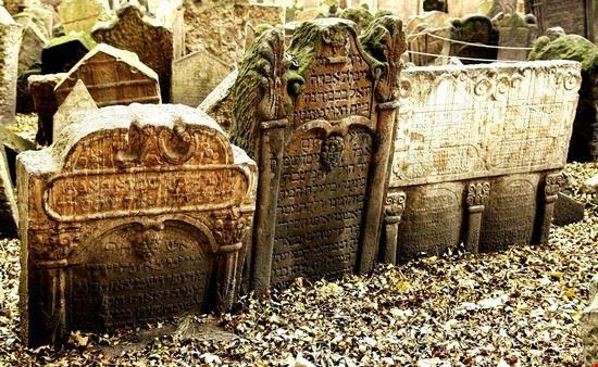 19159 praga lapidi del cimitero ebraico
