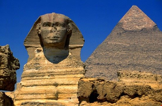hurghada sphinx and the pyramids